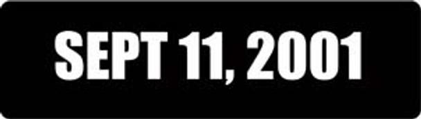 Sept 11, 2001 Motorcycle Helmet Sticker