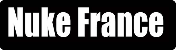 Nuke France Motorcycle Helmet Sticker