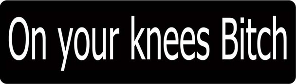 On Your Knees Bitch Motorcycle Helmet Sticker