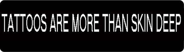 Tattoos Are More Than Skin Deep Motorcycle Helmet Sticker