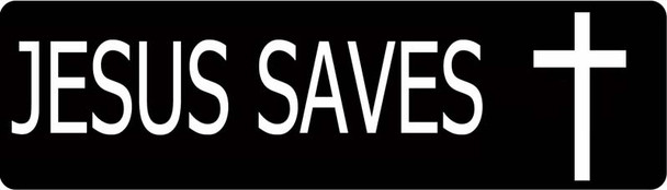 Jesus Saves Motorcycle Helmet Sticker
