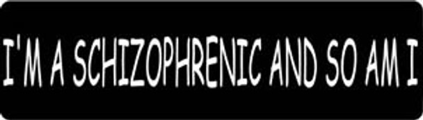 I'm A Schizophrenic And So Am I Motorcycle Helmet Sticker