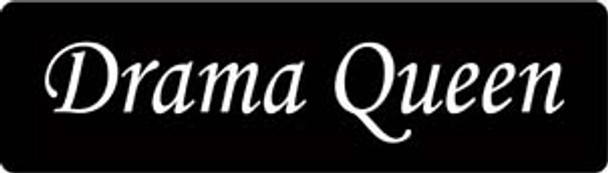 Drama Queen Motorcycle Helmet Sticker