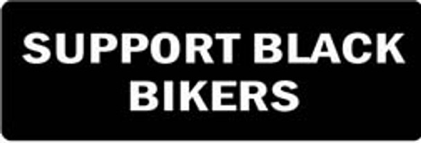 SUPPORT BLACK BIKERS Motorcycle Helmet Sticker