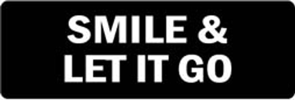 SMILE & LET IT GO Motorcycle Helmet Sticker
