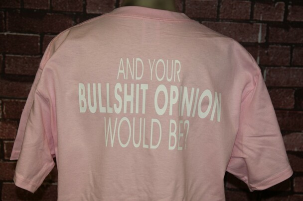 AND YOUR BULLSHIT OPINION WOULD BE? Pink T-Shirts