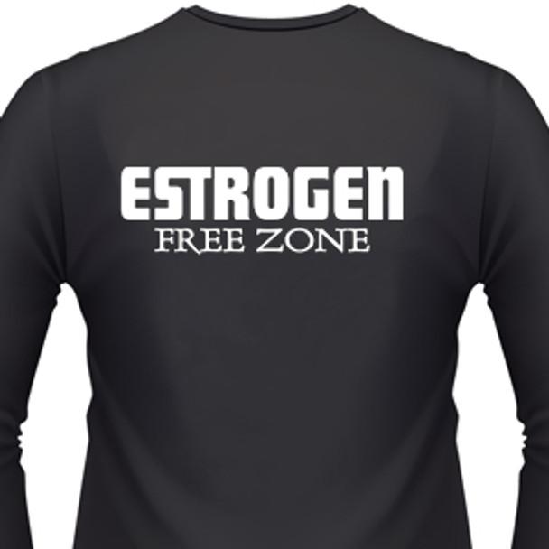 Estrogen Free Zone Biker T-Shirt