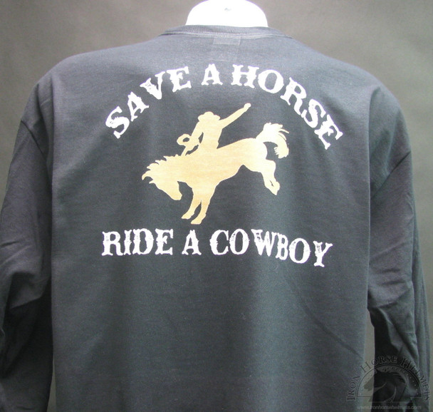 save a horse ride a cowboy shirt