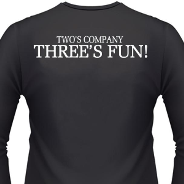 Two's Company Three's Fun! Biker T-Shirt