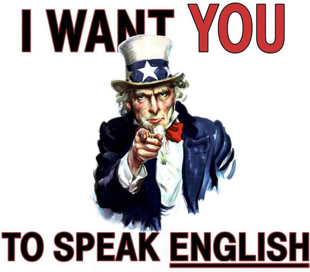 I want you to speak english Tshirt