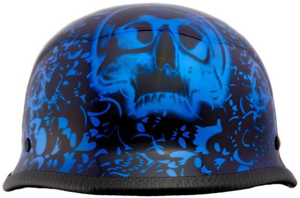 Blue German Motorcycle Helmet