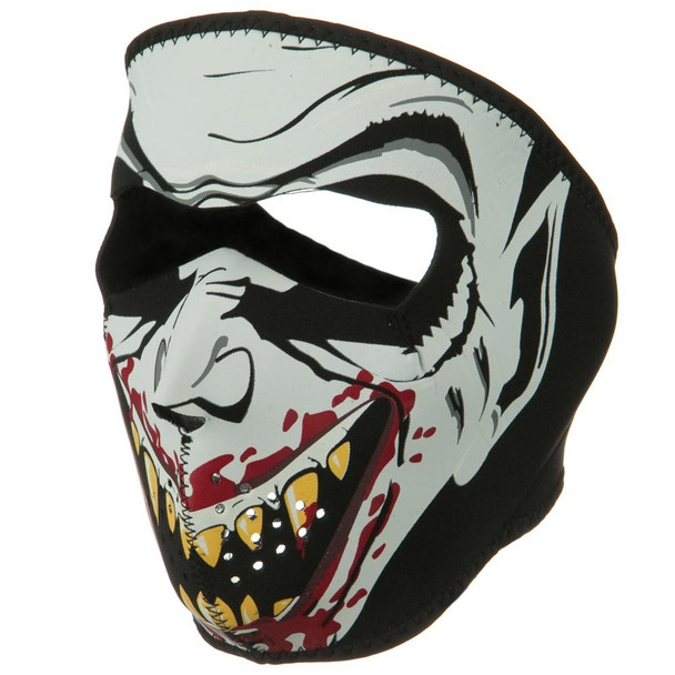 Glow in the Dark Vampire Neoprene Face Mask Side