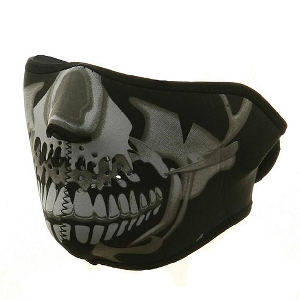 Half Chrome Skull Neoprene Face Mask