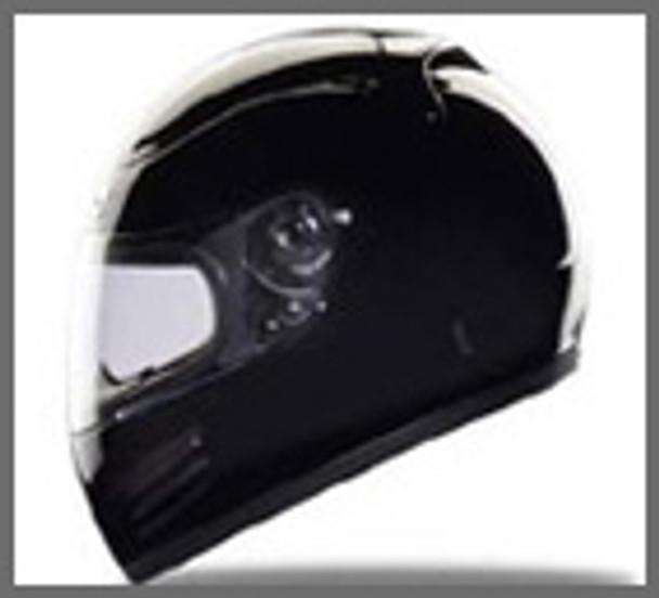 Race/DOT Full Face Black Motorcycle Helmet