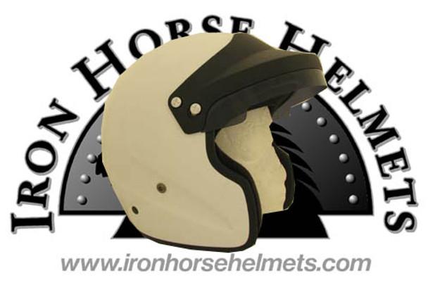 White DOT/Race 3/4 Snell Motorcycle Helmet