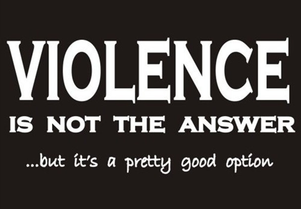 VIOLENCE is not the answer ...but it's a pretty good option shirt