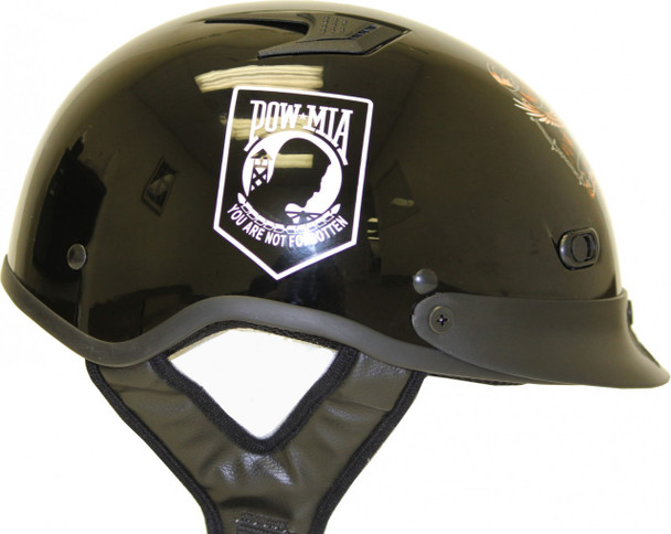 DOT Shorty POW/MIA Motorcycle Helmet