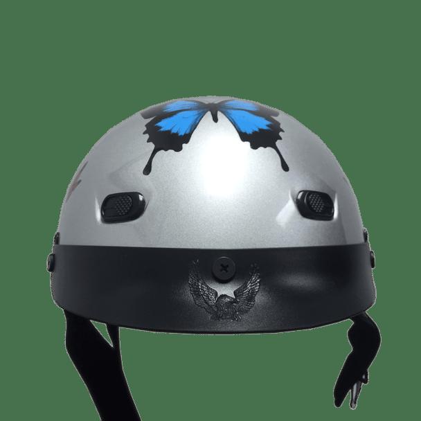 DOT Butterfly Shorty Motorcycle Helmet