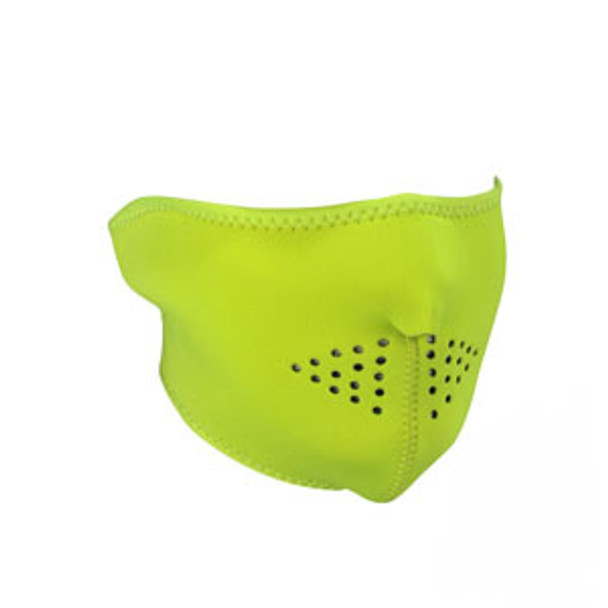 Half Safety Yellow Neoprene Face Mask