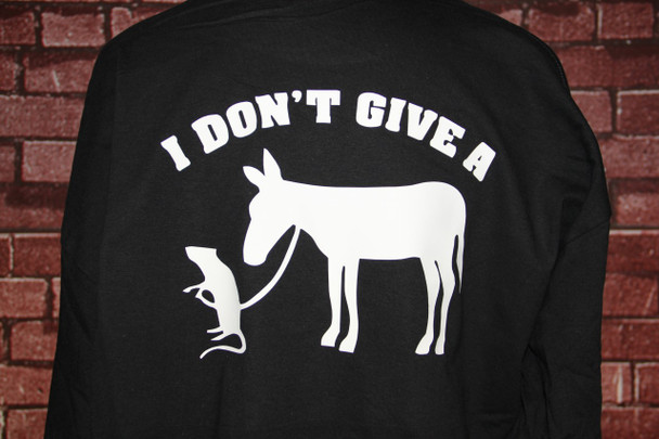 I Don't Give a Rat's Ass on a Black T-shirt