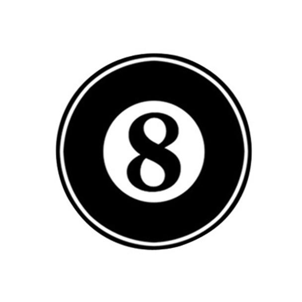 Eight Ball Motorcycle Helmet Sticker
