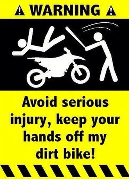 Warning Avoid Serious Injury, Keep Your Hands Off My Bike Shirt