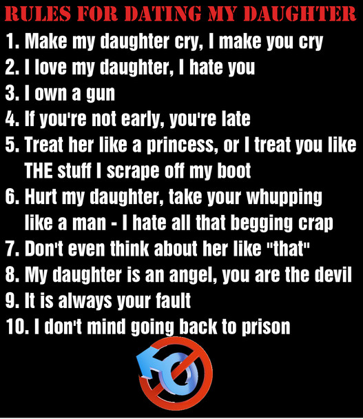 Rules for Dating my Daughter shirt
