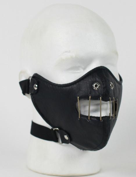 Hannibal Leather Half Face Mask