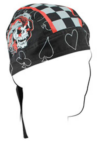 Skull Cap - Jester Skull Doo Rag Flydanna