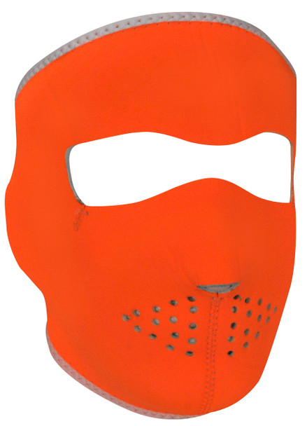Orange/ White Neoprene Face Mask