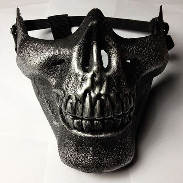 Silver Hard Skull Face Mask