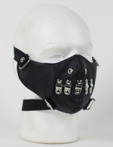 Punk Leather Half Face Mask