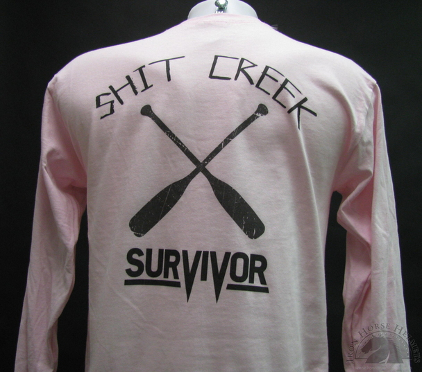 shit creek survivor pink shirt
