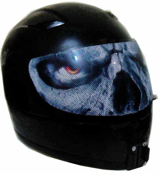 Evil Eyes Motorcycle Helmet Visors Sticker