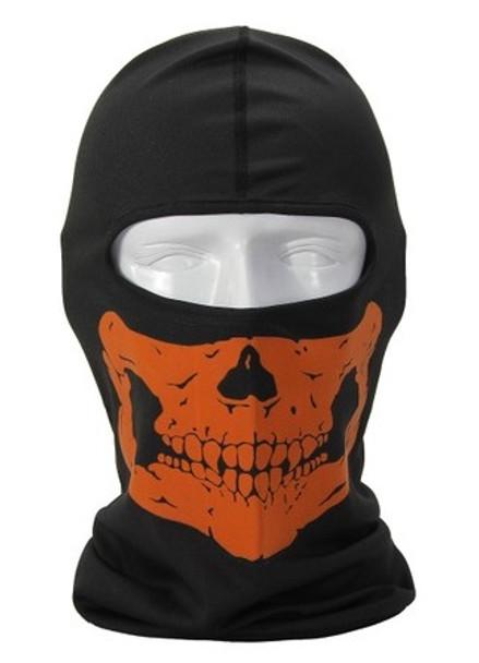 Orange Skull Balaclava