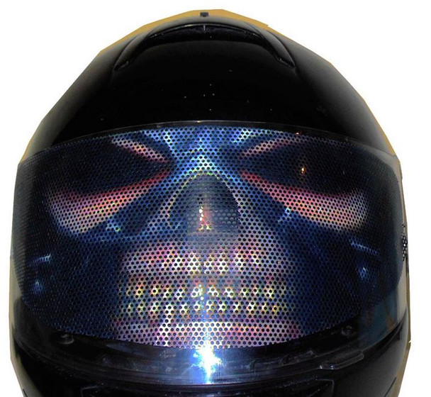 Heavy Metal Motorcycle Helmet Visors Sticker