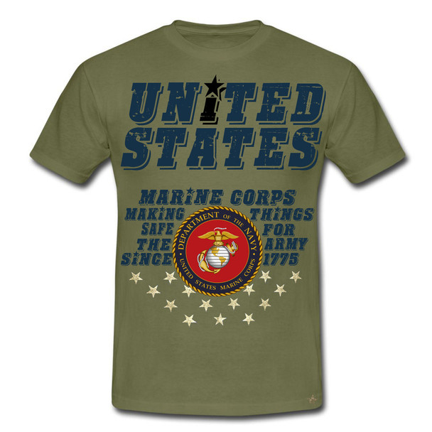 United States Marine Corps Making Things Safe For The Army Since 1775