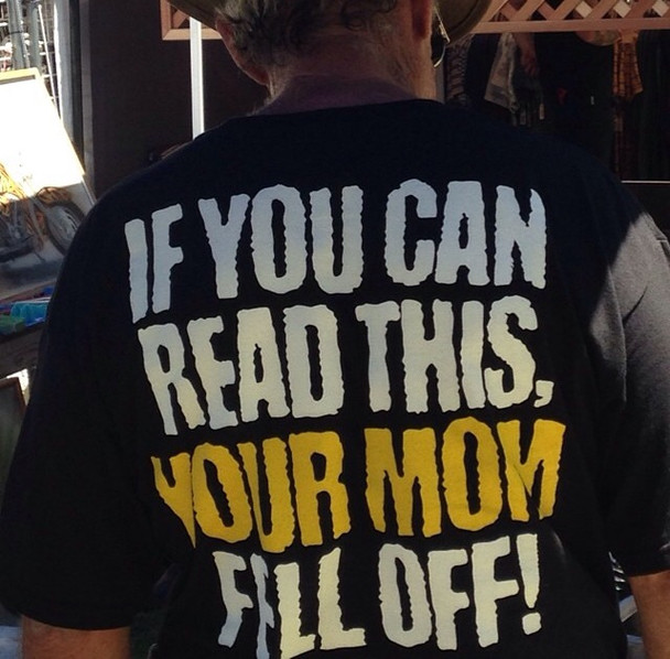 If you Can Read this Your Mom Fell Off T-Shirt