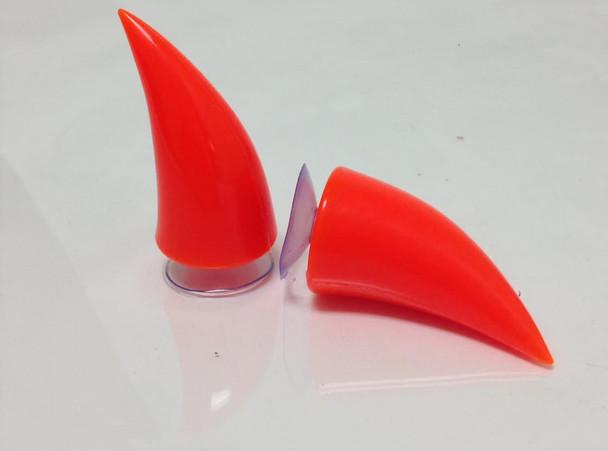 Orange Motorcycle Helmet Horns