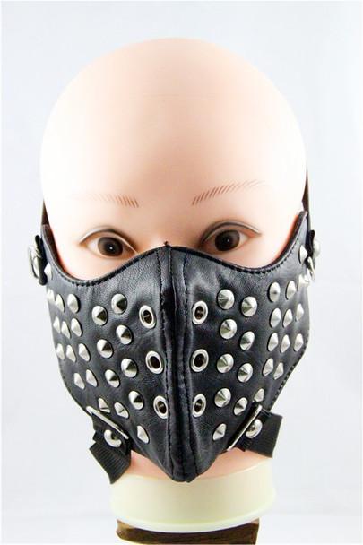 Rivet Leather Half Face Mask