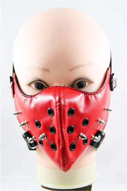 Red Sonja Leather Half Face Mask