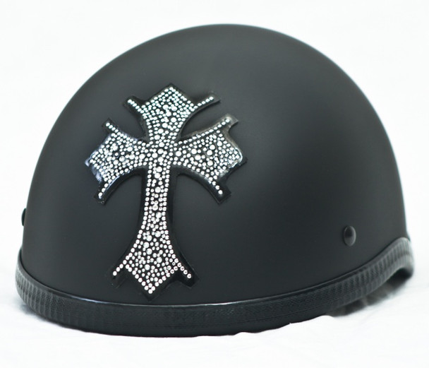 Cross Rhinestone Motorcycle Helmet Patch