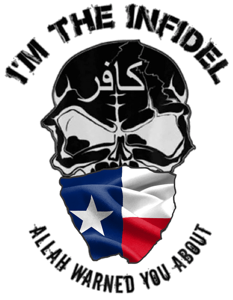 I'M THE INFIDEL ALLAH WARNED YOU ABOUT Texas flag T-Shirt