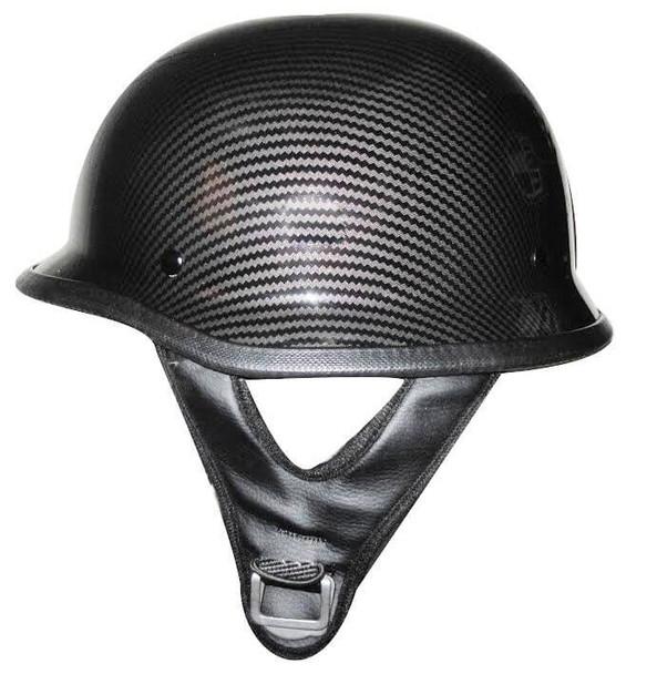 DOT Carbon Fiber Look German Motorcycle Helmet