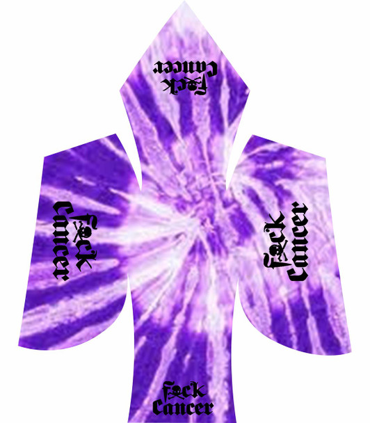 fuck cancer black purple