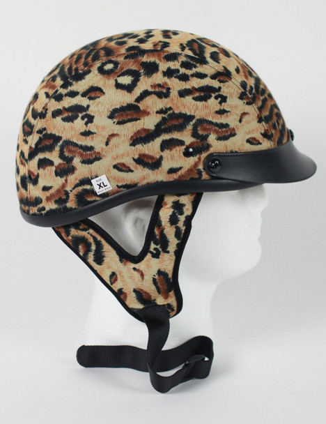 DOT Leopard Shorty Motorcycle Helmet