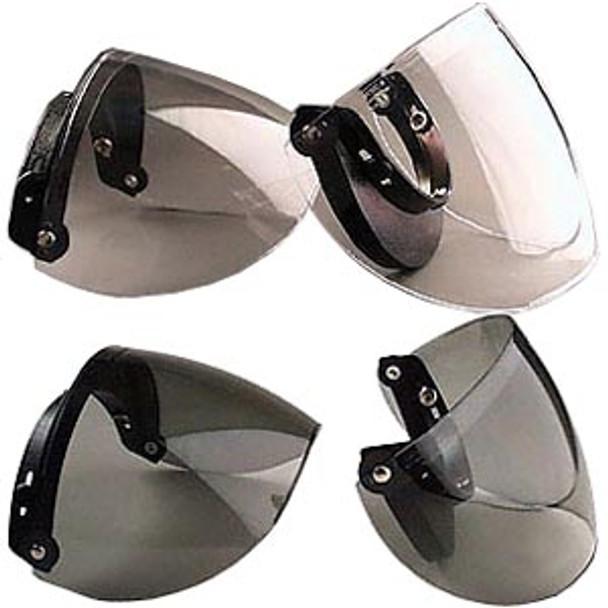 Smoke DOT 3/4 Shell 3 Snap Flip Motorcycle Helmet Shield Visor