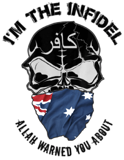 I'M THE INFIDEL ALLAH WARNED YOU ABOUT (Australia) T-Shirt