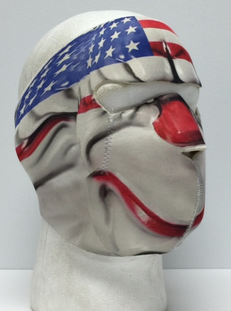 clown neoprene face mask