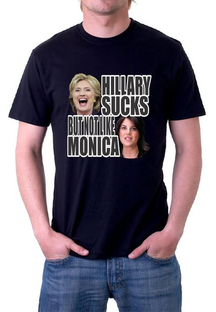 Hillary Sucks But Not Like Monica Shirt